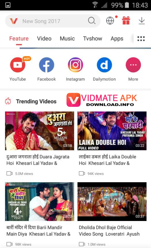 How to Use VidMate APK Tutorials Step 1